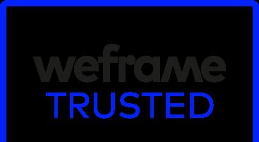 weframe trusted dark logo