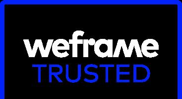 weframe trusted light logo
